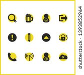 interface icons set with zoom ...