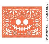 halloween papel picado design...   Shutterstock .eps vector #1393855877