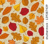 seamless background with autumn ... | Shutterstock .eps vector #139387439