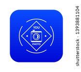 camera icon blue vector...