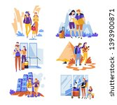 couples and families tourism... | Shutterstock .eps vector #1393900871