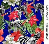 seamless pattern of zebras | Shutterstock .eps vector #139390091