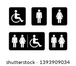 washroom symbols collection.... | Shutterstock .eps vector #1393909034