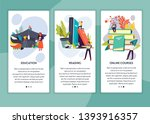 online course education and... | Shutterstock .eps vector #1393916357