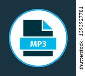 file mp3 icon colored symbol.... | Shutterstock .eps vector #1393927781