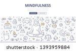 mindfulness   meditation... | Shutterstock .eps vector #1393959884