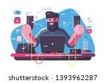 mobile developer at workplace... | Shutterstock .eps vector #1393962287
