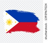 flag of philippines from brush...