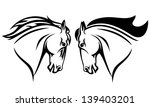 Stock vector horse head vector design black and white outline 139403201