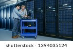 in the modern data center ... | Shutterstock . vector #1394035124