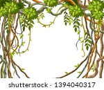 liana branches and tropical...   Shutterstock .eps vector #1394040317