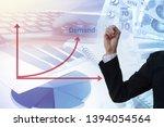 hand of business man drawing... | Shutterstock . vector #1394054564
