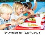 elementary pupils enjoying...   Shutterstock . vector #139405475