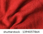 texture of knitted read fabric. ... | Shutterstock . vector #1394057864