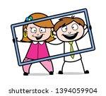 portrait picture   retro... | Shutterstock .eps vector #1394059904