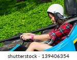 cute asian thai girl is driving ... | Shutterstock . vector #139406354