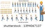 handyman character model sheet... | Shutterstock .eps vector #1394067137
