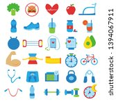 vector set of healthy lifestyle ... | Shutterstock .eps vector #1394067911