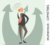 flat businessman and arrow.... | Shutterstock .eps vector #139407881