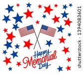 memorial day background with... | Shutterstock .eps vector #1394083601