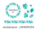 set of different tropical... | Shutterstock .eps vector #1394099294