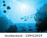 underwater world  oceanic fishes | Shutterstock .eps vector #139413419
