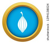 black cardamom pod icon blue...   Shutterstock .eps vector #1394138024