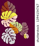 vector tropical pattern with... | Shutterstock .eps vector #1394154767