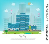 big cityscape with buildings... | Shutterstock .eps vector #1394160767