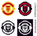 soccer emblem man united club | Shutterstock .eps vector #1394163617