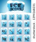 forum interface vector icons... | Shutterstock .eps vector #1394168231
