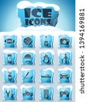 father day vector icons frozen... | Shutterstock .eps vector #1394169881
