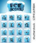 fire brigade vector icons... | Shutterstock .eps vector #1394169884