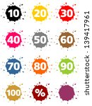 colorful blots as buttons with... | Shutterstock . vector #139417961