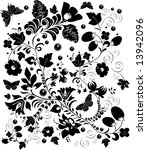 illustration with black... | Shutterstock . vector #13942096