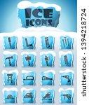 joinery vector icons frozen in... | Shutterstock .eps vector #1394218724