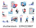 online training set with... | Shutterstock .eps vector #1394223887
