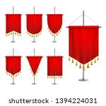 satin red various shapes... | Shutterstock .eps vector #1394224031