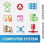 data system icons vector | Shutterstock .eps vector #139422485