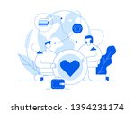 vector donation service banner... | Shutterstock .eps vector #1394231174