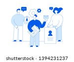 vector teamwork and business... | Shutterstock .eps vector #1394231237