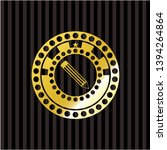 pencil icon inside shiny badge | Shutterstock .eps vector #1394264864