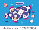 business discussion in office... | Shutterstock .eps vector #1394270084