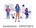 Workers In Office Vector...