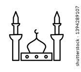 prophet mosque beautiful line... | Shutterstock .eps vector #1394289107