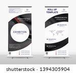 vertical roll up banner  ... | Shutterstock .eps vector #1394305904