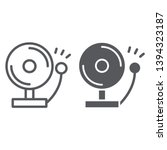 fire alarm line and glyph icon  ...   Shutterstock .eps vector #1394323187