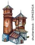 water tower | Shutterstock . vector #139433414