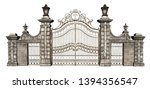 3d Rendered Cast Iron Gate On...