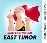 east timor independence day... | Shutterstock .eps vector #1394374397
